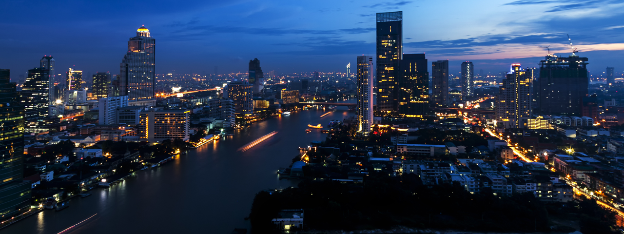 Bangkok by night, the city where our Caldic Thailand office and warehouse are located.